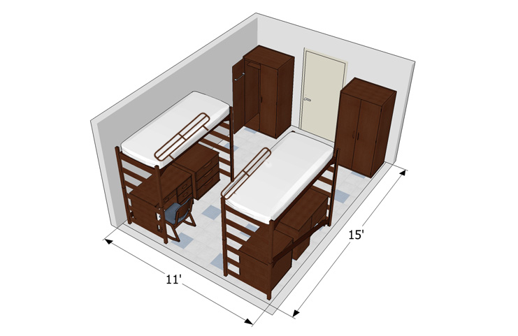 2 Person Room Detail
