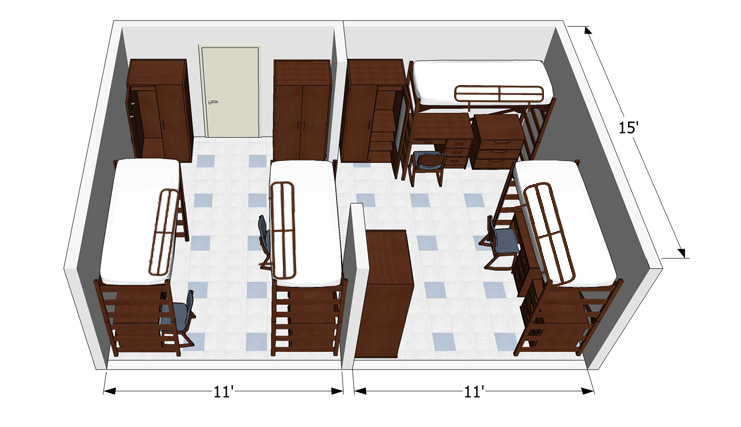 4 Person Room Detail