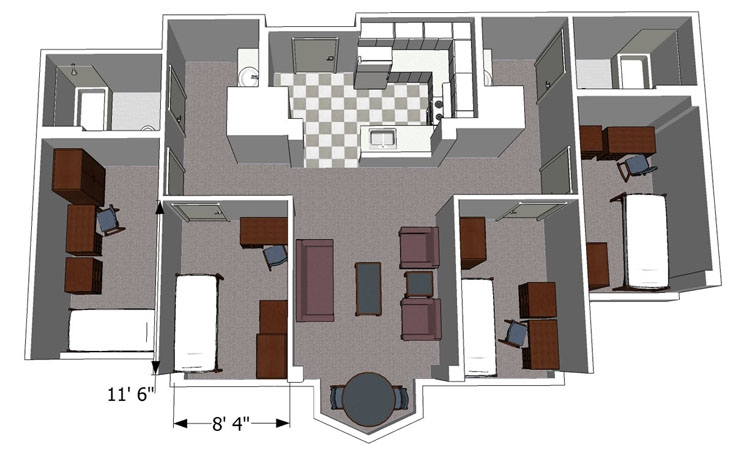 North Avenue Apartment Layout